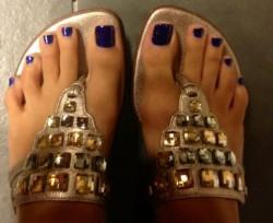 Piedino sensuale con scarpa bassa