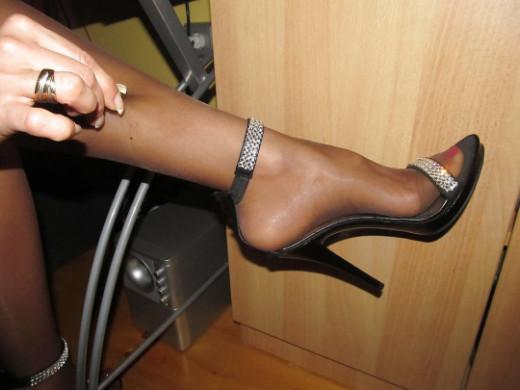 Tacchi Alti e calze nere